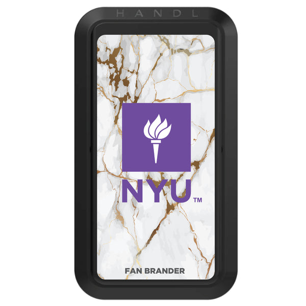 Black HANDLstick with NYU Primary Logo with White Marble