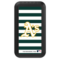 Black HANDLstick with Oakland Athletics Stripes design