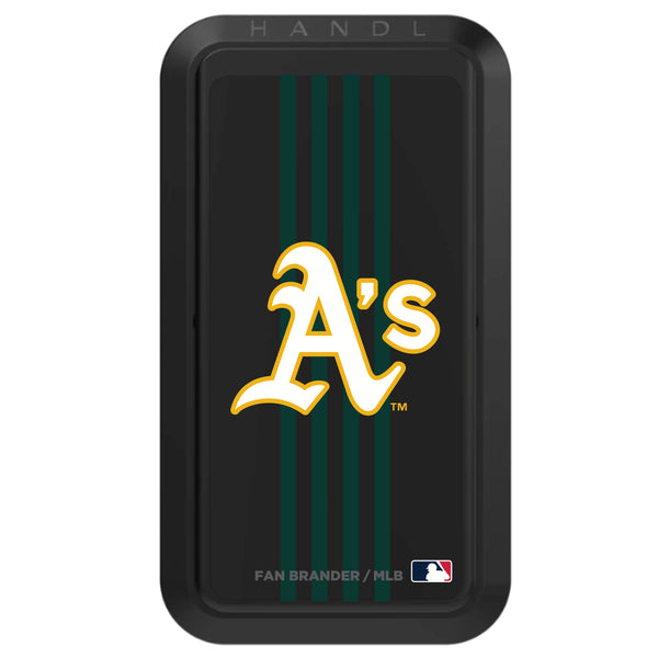 Black HANDLstick with Oakland Athletics Vertical Stripe