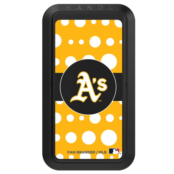 Black HANDLstick with Oakland Athletics Polka Dots