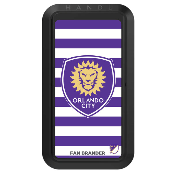 Black HANDLstick with Orlando City SC Primary Logo with Stripes