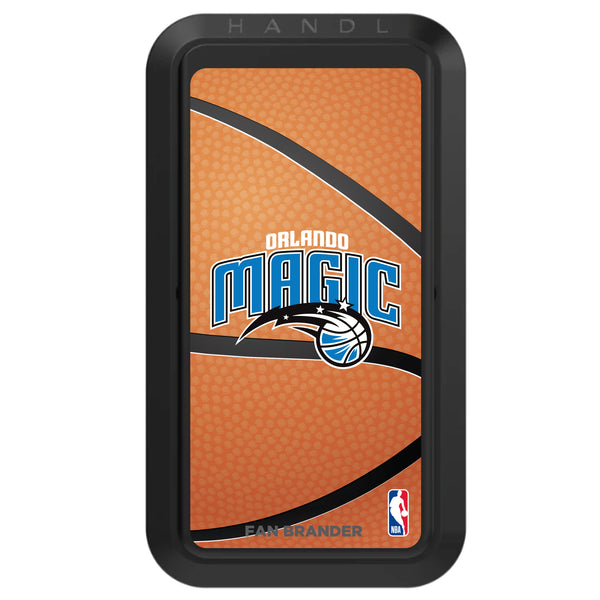 Black HANDLstick with Orlando Magic Primary Logo with Basketball Background