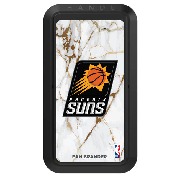 Black HANDLstick with Phoenix Suns Primary Logo with White Marble Design