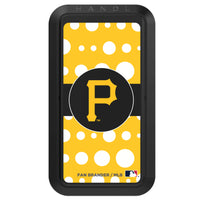 Black HANDLstick with Pittsburgh Pirates Polka Dots