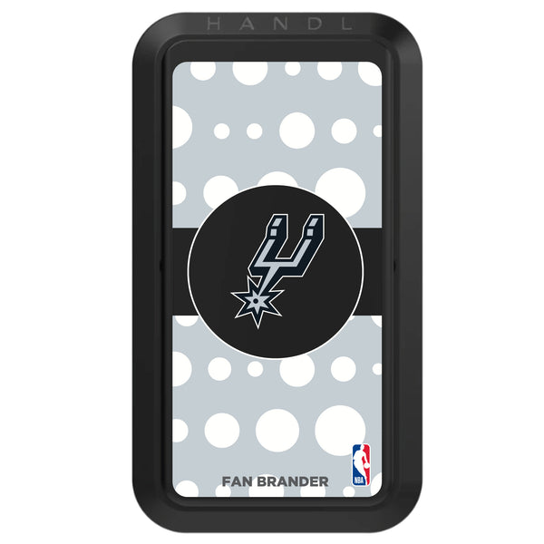 Black HANDLstick with San Antonio Spurs Primary Logo with Polka Dots