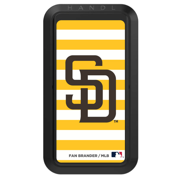 Black HANDLstick with San Diego Padres Stripes design