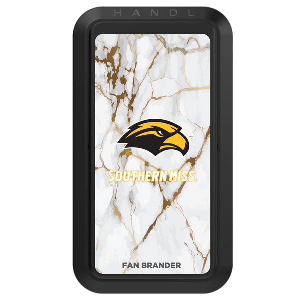 Black HANDLstick with Southern Mississippi Golden Eagles Primary Logo with White Marble