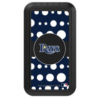 Black HANDLstick with Tampa Bay Rays Polka Dots