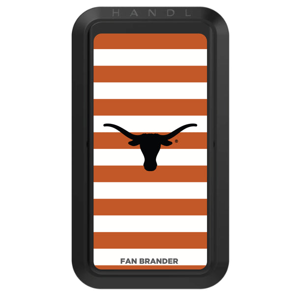Black HANDLstick with Texas Longhorns  Primary Logo with Stripes