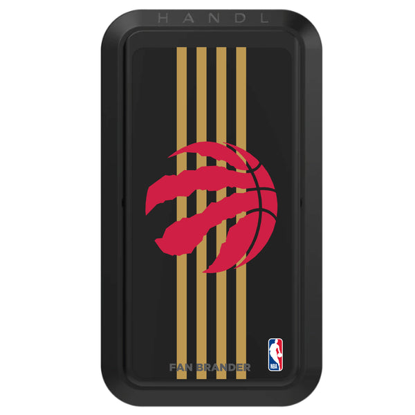 Black HANDLstick with Toronto Raptors Primary Logo with Vertical Stripe