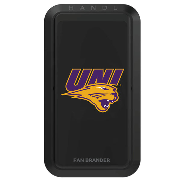Black HANDLstick with Northern Iowa Panthers Primary Logo
