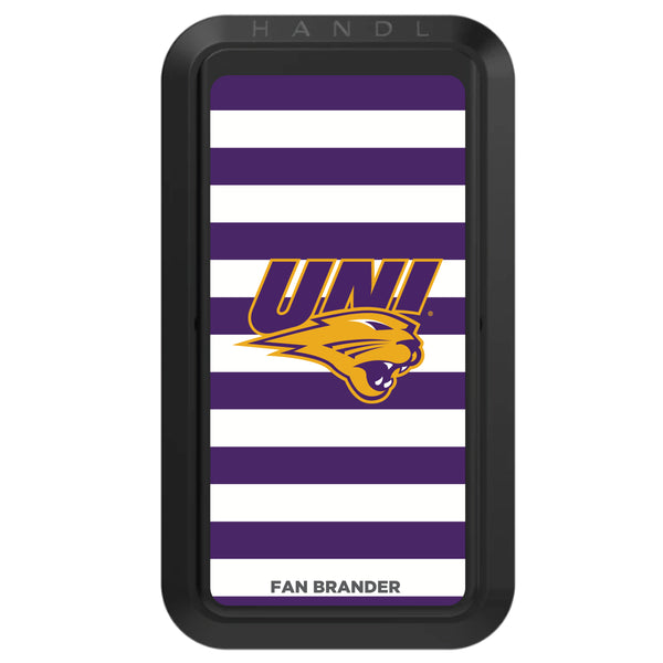 Black HANDLstick with Northern Iowa Panthers Primary Logo with Stripes