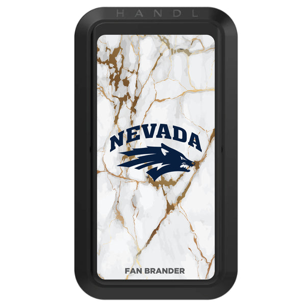 Black HANDLstick with Nevada Wolf Pack Primary Logo with White Marble