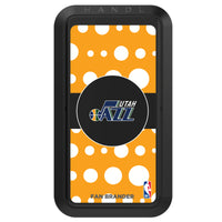 Black HANDLstick with Utah Jazz Primary Logo with Polka Dots