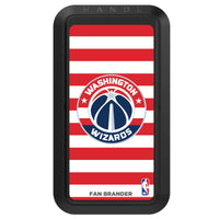 Black HANDLstick with Washington Wizards Primary Logo with Stripes