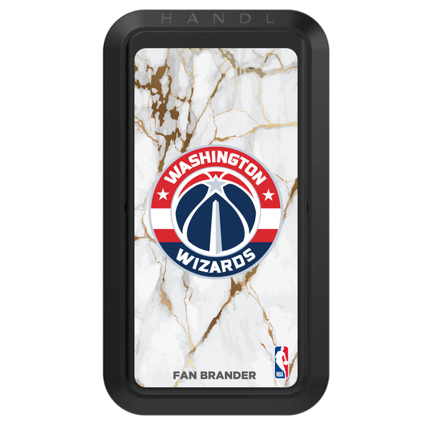 Black HANDLstick with Washington Wizards Primary Logo with White Marble Design
