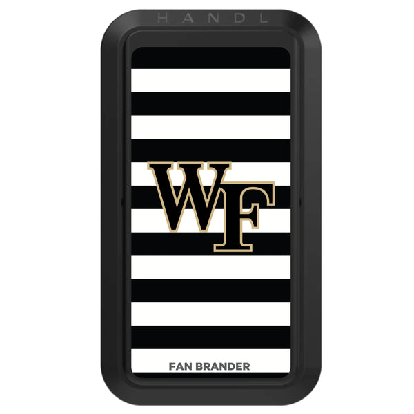 Black HANDLstick with Wake Forest Demon Deacons Primary Logo with Stripes