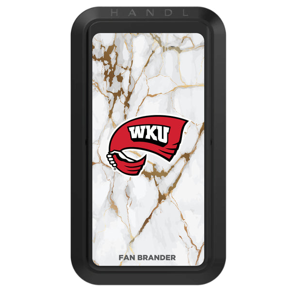 Black HANDLstick with Western Kentucky Hilltoppers Primary Logo with White Marble