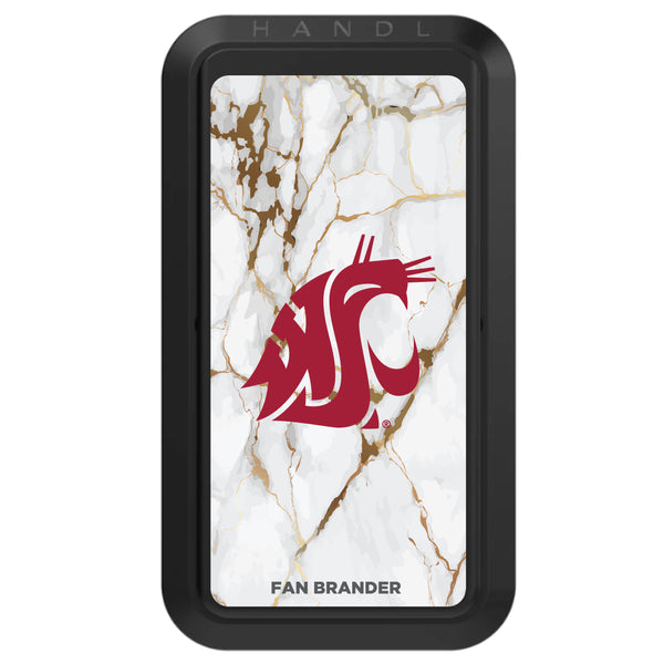 Black HANDLstick with Washington State Cougars Primary Logo with White Marble