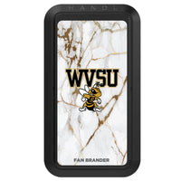 Black HANDLstick with West Virginia State Univ Yellow Jackets Primary Logo with White Marble