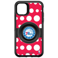 OtterBox Otter + Pop symmetry Phone case with Philadelphia 76ers Primary Logo Polka Dots design