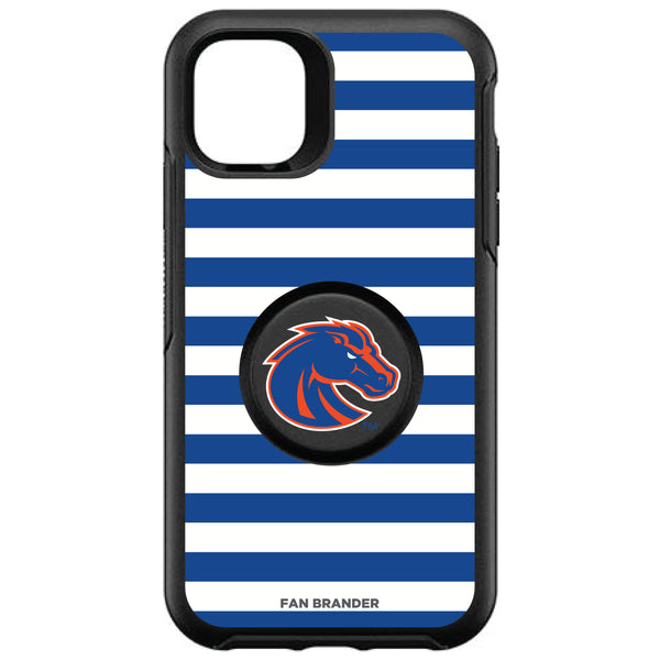 OtterBox Otter + Pop symmetry Phone case with Boise State Broncos Primary Logo and Striped Design
