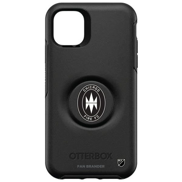OtterBox Otter + Pop symmetry Phone case with Chicago Fire Urban Primary Logo in Black and White