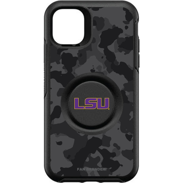 OtterBox Otter + Pop symmetry Phone case with LSU Tigers Urban Camo background