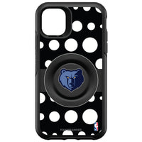 OtterBox Otter + Pop symmetry Phone case with Memphis Grizzlies Primary Logo Polka Dots design