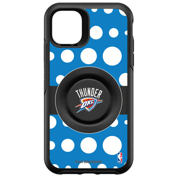 OtterBox Otter + Pop symmetry Phone case with Oklahoma City Thunder Primary Logo Polka Dots design