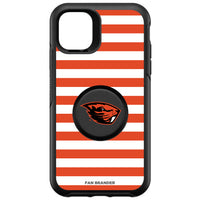 OtterBox Otter + Pop symmetry Phone case with Oregon State Beavers Primary Logo and Striped Design
