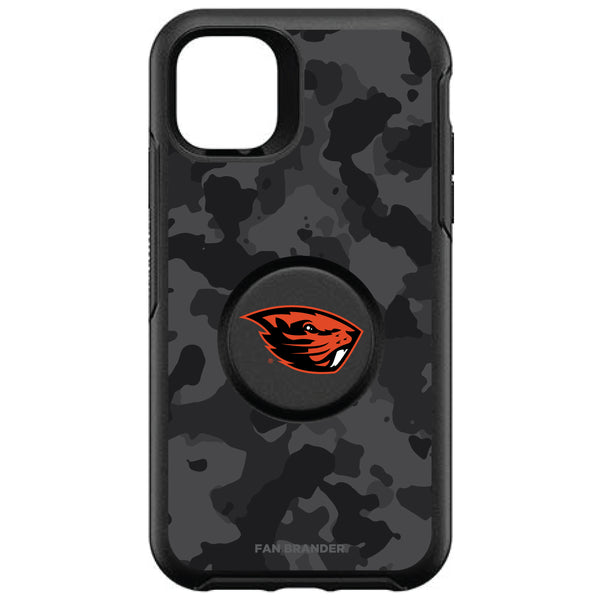 OtterBox Otter + Pop symmetry Phone case with Oregon State Beavers Primary Logo and Urban Camo design