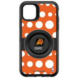 OtterBox Otter + Pop symmetry Phone case with Phoenix Suns Primary Logo Polka Dots design