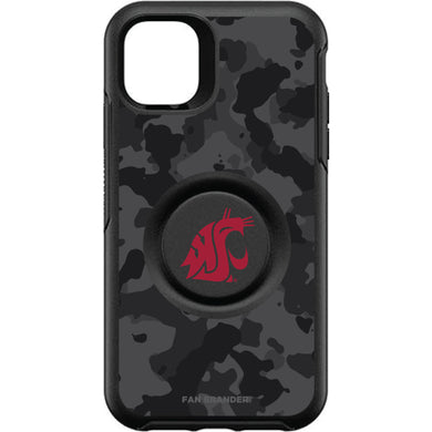 OtterBox Otter + Pop symmetry Phone case with Washington State Cougars Urban Camo background
