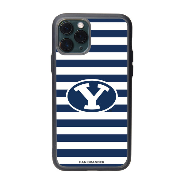 Fan Brander Slate series Phone case with Brigham Young Cougars Stripes design