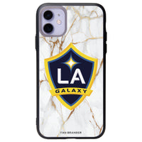 Fan Brander Slate series Phone case with LA Galaxy White Marble Background