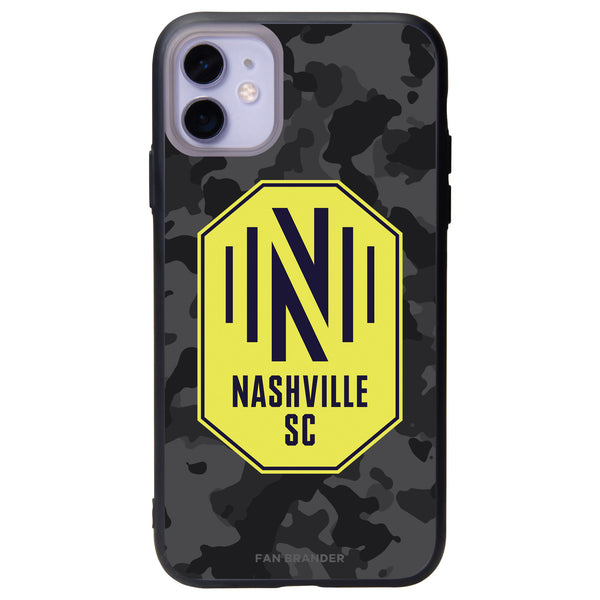 Fan Brander Slate series Phone case with Nashville SC Urban Camo Background