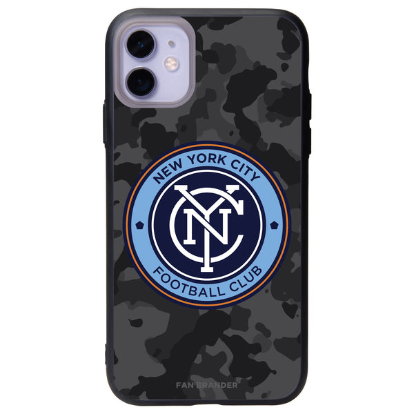 Fan Brander Slate series Phone case with New York City FC Urban Camo Background