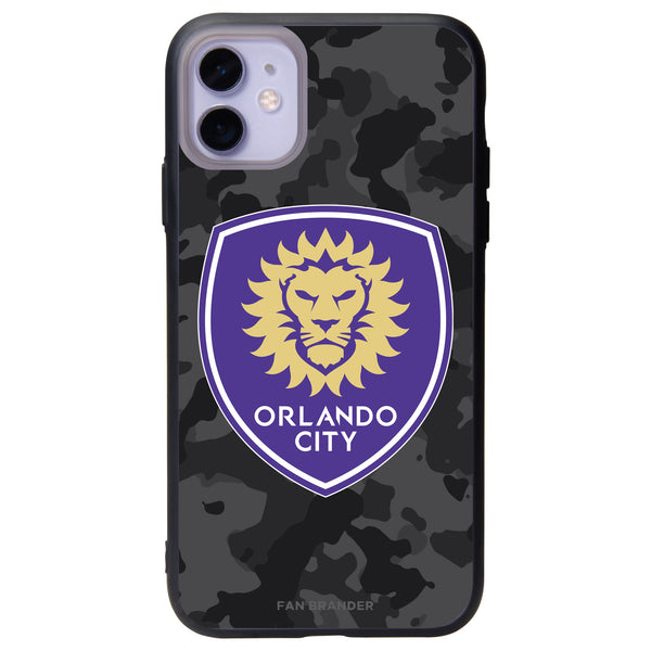 Fan Brander Slate series Phone case with Orlando City SC Urban Camo Background