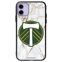 Fan Brander Slate series Phone case with Portland Timbers White Marble Background