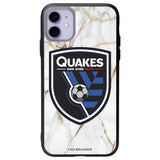 Fan Brander Slate series Phone case with San Jose Earthquakes White Marble Background