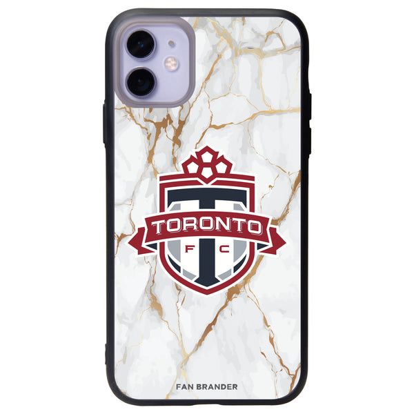 Fan Brander Slate series Phone case with Toronto FC White Marble Background