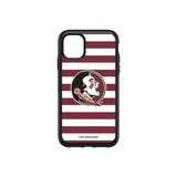 OtterBox Black Phone case with Florida State Seminoles Primary Logo and Striped Design