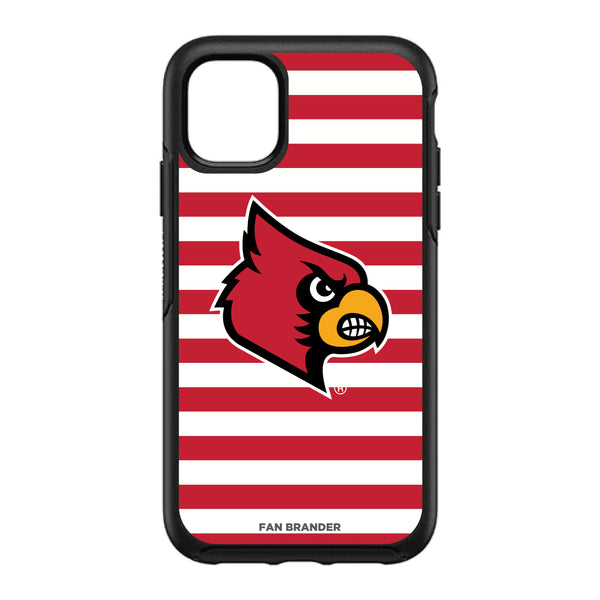 OtterBox Black Phone case with Louisville Cardinals Stripes Design