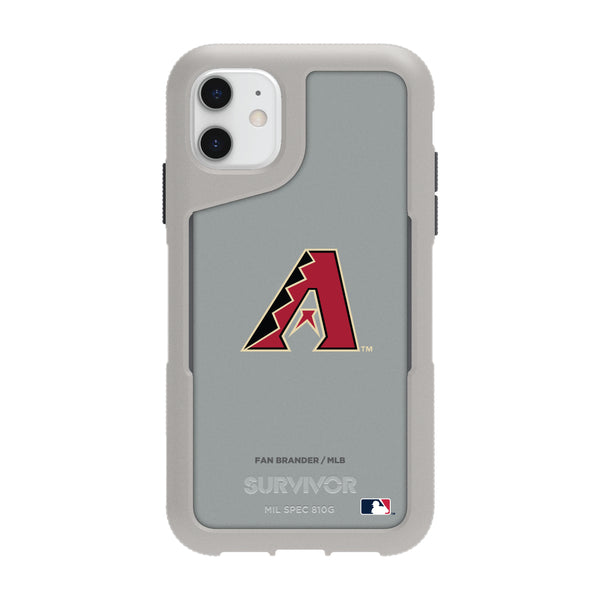 Griffin Survivor Endurance cool grey Phone case with Arizona Diamondbacks Primary Logo