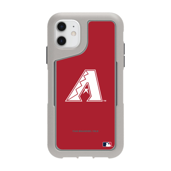 Griffin Survivor Endurance cool grey Phone case with Arizona Diamondbacks Primary Logo with Team Color Background