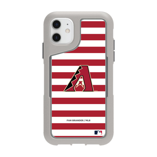 Griffin Survivor Endurance cool grey Phone case with Arizona Diamondbacks Primary Logo with Stripes