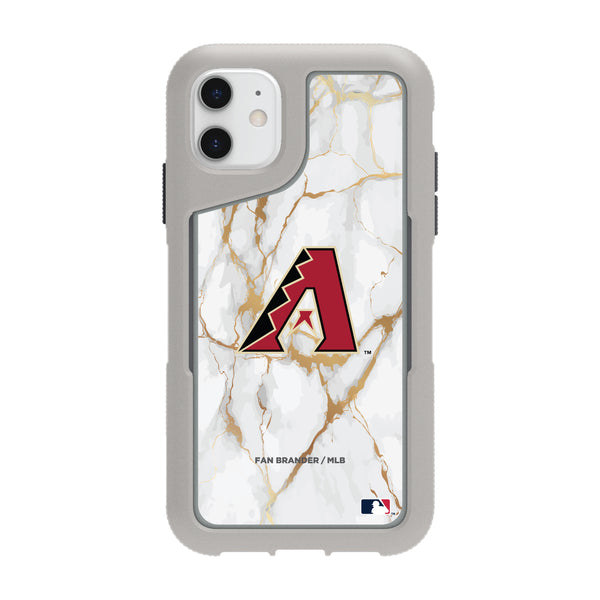 Griffin Survivor Endurance cool grey Phone case with Arizona Diamondbacks White Marble Background