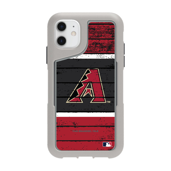 Griffin Survivor Endurance cool grey Phone case with Arizona Diamondbacks Primary Logo on Wood Design