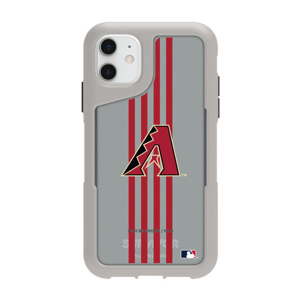 Griffin Survivor Endurance cool grey Phone case with Arizona Diamondbacks Primary Logo with Vertical Stripe